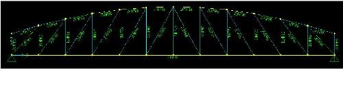 مدلسازي، تحليل و طراحي خرپای قوسی توسط نرم افزار Sap2000